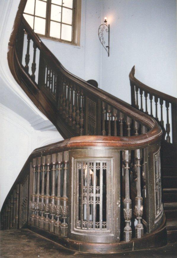 L'escalier d'honneur du XVIIIe siècle en 2002.