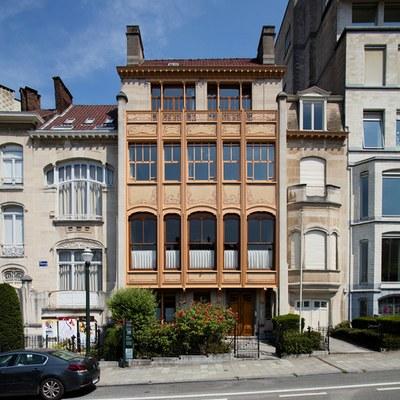Hôtel Van Eetvelde. Façade avant. © KIK-IRPA_urban.brussels