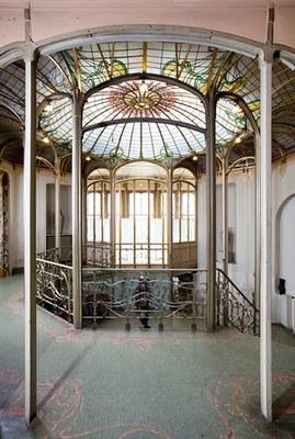 Hôtel Van Eetvelde. Jardin d'hiver central avec verrière. © KIK-IRPA_urban.brussels