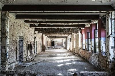 L'ancienne salle du chapitre pendant le chantier - © Urban.brussels