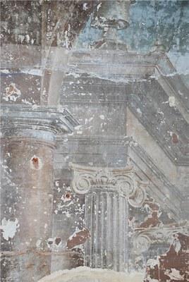 Fragment de la fresque du cloître - © Urban.brussels