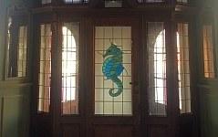 cheval marin - vitrail
