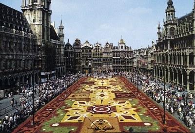 1er tapis de fleurs à Bruxelles, 1971
