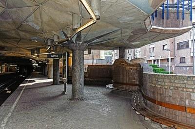 La station de métro. Photo A. de Ville de Goyet © urban.brussels