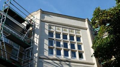 Remise en place des mosaïques (photo Mosaice Di Due)