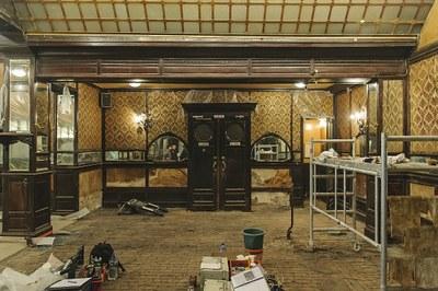 Salle pendant  restauration