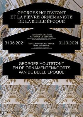 Affiche exposition Georges Houtstont au Musée de la Banque nationale de Belgique
