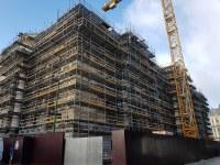 La Bourse, évolution du chantier