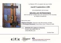 Présentation de la revue BRUXELLES PATRIMOINES